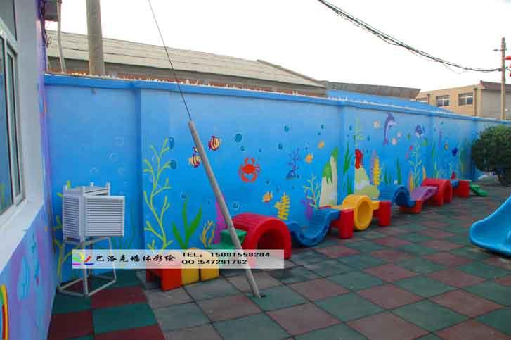 巴洛克幼儿园手绘墙公司,巴洛克涂鸦文化墙彩绘